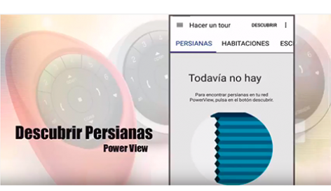 Asocia tus Cortinas y persianas con la app PowerView